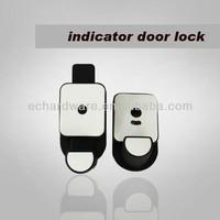 Bathroom door indicator lock