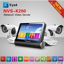 Vstarcam K200 wifi pic/music/video player 7 inch touch screen Audio/video 4 channel mini ip camera video recorder