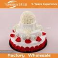 Nouveau design de haute qualité professionnelle personnalisécarte factices. décorées gâteau de mariage modèle
