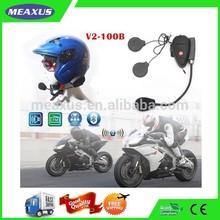 Motorcycle Helmet Waterproof Headphones Attach To Phones, Wireess Bluetooth Full Duplex Intercom for Motorcyclists