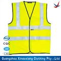 De alta visibilidad chaleco con bolsillos/construcción de trabajo de seguridad/amarillo chaqueta reflectante de seguridad