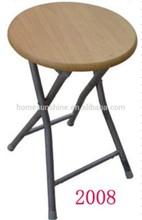 Home Used Wooden Seat Round Folding Stool,foldable stool