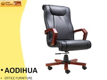 2014# wooden armrest office chair antique executive HL-760