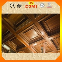 Big Discount fancy design solid wooden ceiling decoration BZ-006