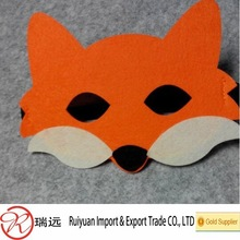 Customized laser cut fox halloween mask