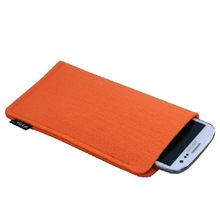 Eco friendly felt phone pouch