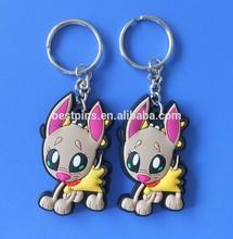 3D deer design plastic key tags wholesale, deer plastic key chains