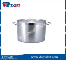 Polished Stainless Steel Stock Pot Brewing Kettle Large Lid