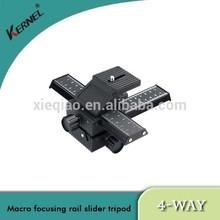 Kernel Professional Macro Focusing Rail Slider 4-Way Tripod Ball Head For DSLR Camera