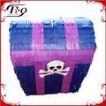 Cofre del tesoro tira cadena Pirata fiesta temática Pinata suministros