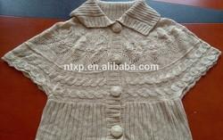 Lady's fancy short sleeve sweater shrug
