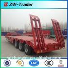 FUWA tri-axle semi trailer lowbed 60 ton