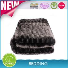 100% polyester faux fur fabric wholesale fox fur blankets