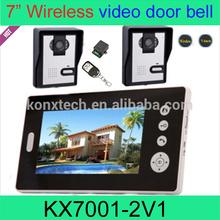 7 inch 2.4GHz digital wireless networking intercom system home video door bell peephole viewer android door Phone