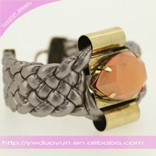 Wedding Occasion Gift Big Diamond Leather Bracelets Watch