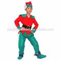 De los niños de Santas Little Helper Elf trajes de los niños PLCC-0527