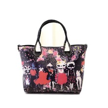 Tmall wholesale Floral Printing Handbag, Fashion Flower Design Shopping Bag