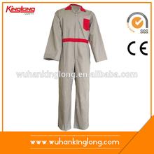 Agradable de la tela de ropa de trabajo modelo sobretodo