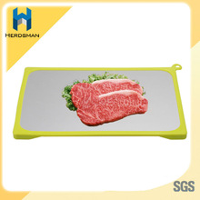 Metal thawing frozen meat for home