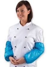 """Disposable PE/PP/PE coated PP/SMS/Microporous sleeve cover white/blue/green 16"""" 18"""""""