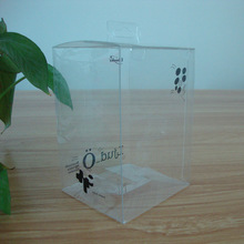 full color printing small clear pvc pet large plastic box with lock