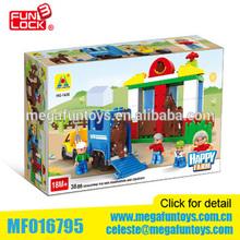 Happy farm (48pcs) Duplo block building block toys
