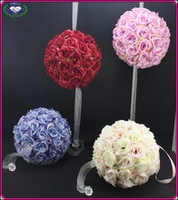 European style high level wedding decoration purple silk flowers ball party deco bouquets