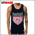2015 Newest design men's printing tank top , wholesale custom high quality gym tank top