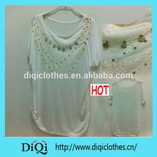 women foil puff print 100% viscose t shirt
