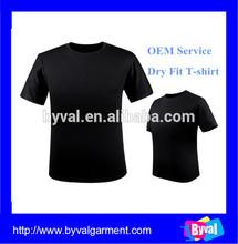 OEM black breathable t shirt men's o neck short sleeve t shirt for sale