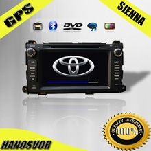 New fashion PLC car dvd player with HD LCD screen for Toyota Sienna Car DVD Player