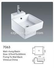 bathroom wall hung ceramic art basin