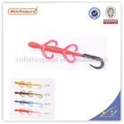 SLL080 cheap fishing lures making supplies soft pvc plastic shrimp lure