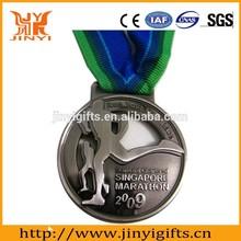 Healthy Journey of 2D effect marathon running medal