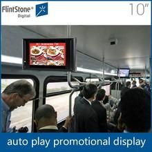 Flintstone 10 inch car headrest mount portable dvd player digital price display board