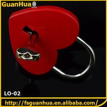 Fancy design metal accessory handbag decorative lock and key