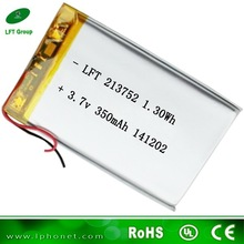 213752 deep power battery 3.7 v 350mah li-ion rechargeable battery heated blankets