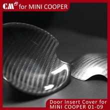For Mini Cooper R50 R51 R53 R55 R56 Real Dry Black Carbon Fiber Door Insert Cover