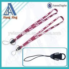 Silkscreen printed tubular lanyard with phone strap