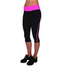 Nylon spandex breathable custom design women compression capri tights