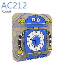 DIY wooden cartoon clock with pigment -- AC212