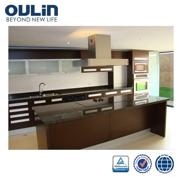 2014 modern modular kitchen cabinet design for sale View