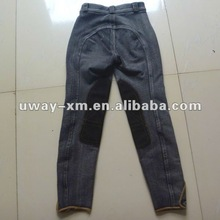 UW-CJ-005B 2012 Fashion design children jean riding trousers,children riding breeches,children riding wear