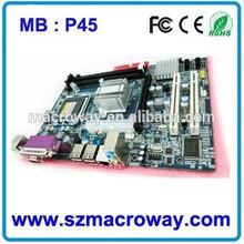 De alta calidad y precio de fábrica de la placa base de apoyo p45 lga775 lga y 771 cpu de la serie ddr3 duo- canal 800/1066 mhz/1333 mhz, p45