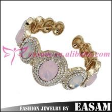 Easam Top Selling Customerized Crystal girls fashion metal bangle
