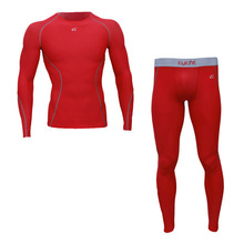 Mens Sports Shirts And Tights Pants Leggings DRI-FIT Skins Compression Wear Set