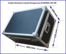 Foam Padding EVA Lining Aluminum Frame ABS Anti-Shock Master Packaging Storage Case for Precious Stones KLSBY800-530-390