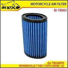 NEX High Flow Air Filter for TRIUMPH BONNEVILLE T100 110TH ANNV. LE 2012