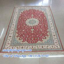 Nanyang factory 4x6ft handmade qom persian silk rug
