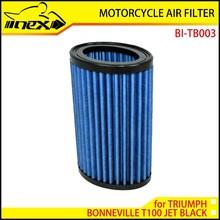 NEX High Flow Air Filter for TRIUMPH BONNEVILLE T100 JET BLACK 2011